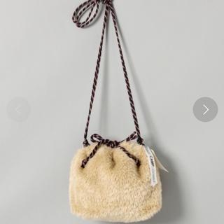 ジーナシス(JEANASIS)のjeanasis ファー巾着バッグ(ショルダーバッグ)