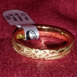 ハワイアンジュエリーステンレスリング イエローゴールド17号(リング(指輪))