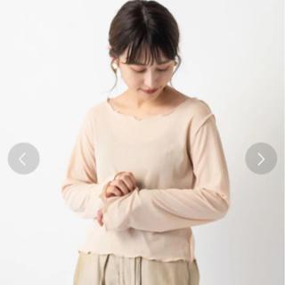 カスタネ(Kastane)のkastane メッシュ編み楊柳プルオーバー(カットソー(長袖/七分))