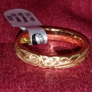 ハワイアンジュエリーステンレスリング イエローゴールド13号(リング(指輪))