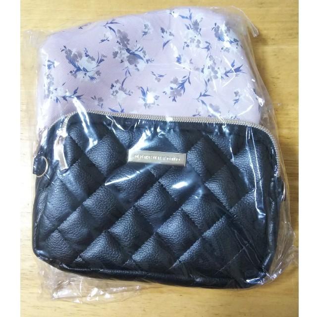MERCURYDUO(マーキュリーデュオ)の値下可能 MERCURYDUO ダブルジップチェーンバッグ&花柄ポーチ レディースのファッション小物(ポーチ)の商品写真