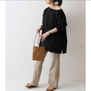 フレームワーク(FRAMeWORK)のタグつき新品✨FRAMeWORK オーバーT ブラック(Tシャツ(長袖/七分))