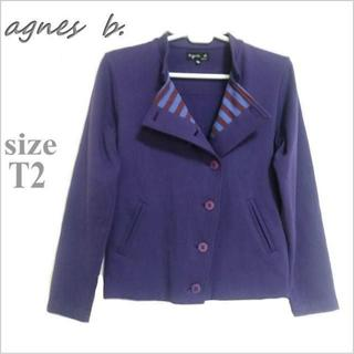 アニエスベー(agnes b.)の【agnes b. / アニエスベー】紫ジャージー調ジャケット*ブルゾン*T2(その他)