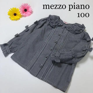 mezzo piano - メゾピアノ  立体 リボン 長袖 ブラウス シャツ ミキハウス ファミリア