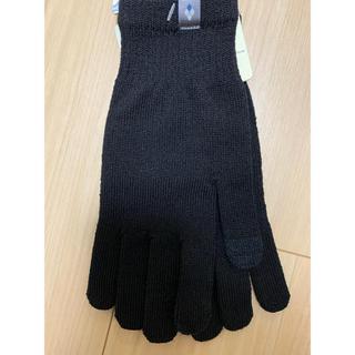 モンベル(mont bell)のモンベル メリノウールグローブタッチ ブラック(手袋)