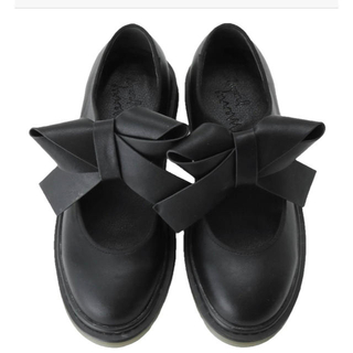 メリージェニー(merry jenny)のメリージェニー  PUリボンラバーシューズ(ローファー/革靴)