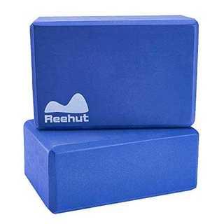 ブルー23cm x 15cm x 10cm(2個)Reehut ヨガブロック ピ(ヨガ)