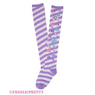 Angelic Pretty - Girly Stickerオーバーニー