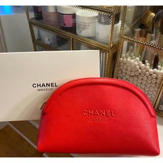 CHANEL - 感謝セール4990→3990CHANEL シャネル ノベルティポーチ レッド