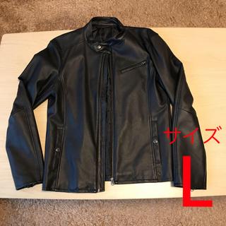 ライトオン(Right-on)の【送料無料】ライダースジャケット レザージャケット シングルライダース 黒(ライダースジャケット)