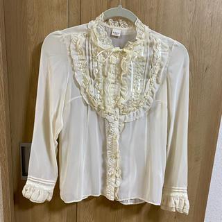 axes femme  長袖 ブラウス Mサイズ オフホワイト(シャツ/ブラウス(半袖/袖なし))