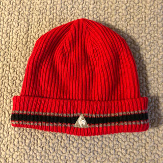 ルコックスポルティフ(le coq sportif)のルコック スポルティフ ワンポイントロゴ 刺繍 ニット帽 ニットキャップ(キャップ)