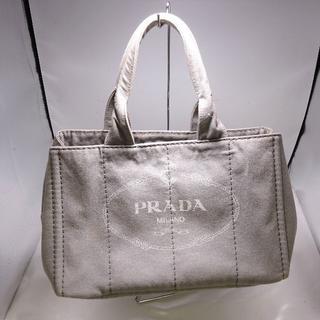 PRADA - PRADA プラダ カナパ B1877B キャンバス グレー