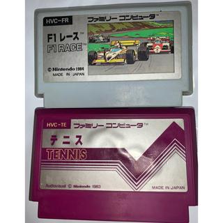 ファミリーコンピュータ(ファミリーコンピュータ)の訳有り ファミコンソフト F1レース&テニス(家庭用ゲームソフト)