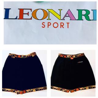 レオナール スポーツショートパンツ秋、冬、春まで着られる。M  ウール100%