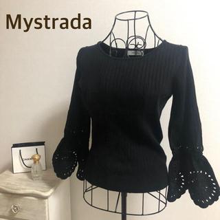 Mystrada - Mystrada★マイストラーダ★【大人気】袖カットワークリブニット