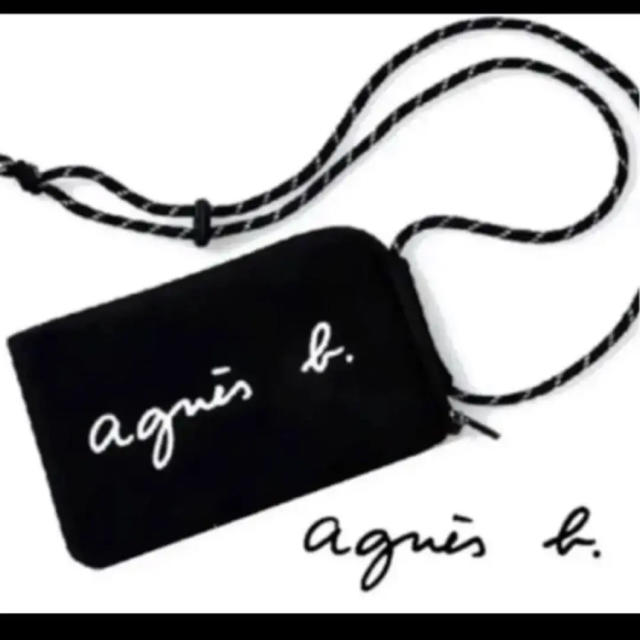 agnes b.(アニエスベー)のagnes b. マルチケース ショルダーバッグ新品 BLACK  レディースのバッグ(ショルダーバッグ)の商品写真