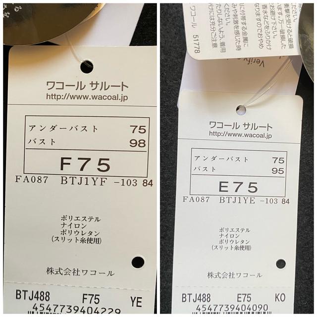 Wacoal(ワコール)のサルート 店舗限定 88G F75・YE&E75・KO レディースの下着/アンダーウェア(ブラ)の商品写真