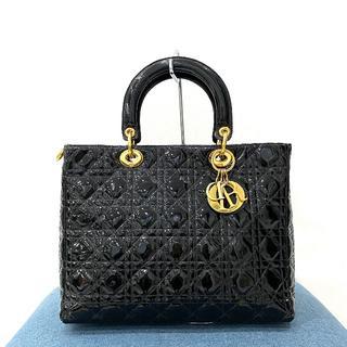 Christian Dior - クリスチャンディオール レディディオール パテント カナージュバッグ 黒