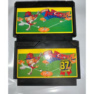 ファミリーコンピュータ(ファミリーコンピュータ)の訳有りファミコンソフト2個セット プロ野球ファミリースタジアム&87年度版(家庭用ゲームソフト)