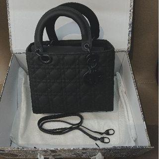 Dior -  Dior レディディオール ハンドバッグ マットブラック