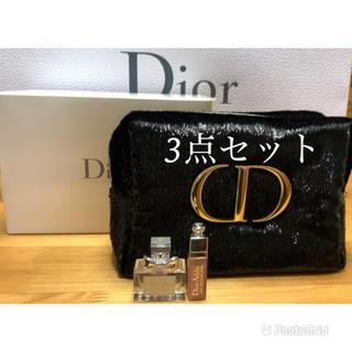 Dior - Dior ディオール アディクトクリスマスオファー 2020 ポーチ 3点セット