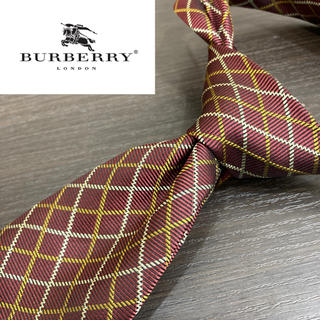 BURBERRY - 【美品】Burberry ロンドン イタリア製最高級シルク100%ネクタイ 総柄