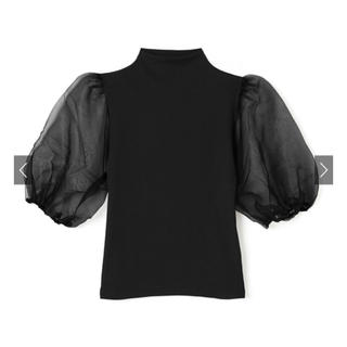 GRL - GRL 袖チュール切替えハイネックトップス ブラック