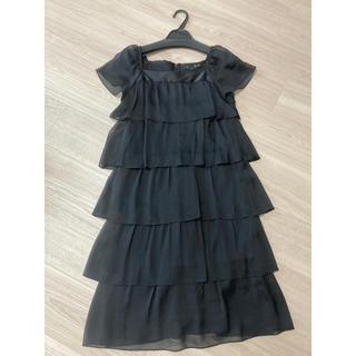 アンタイトル(UNTITLED)のシフォン フリル ワンピース ドレス ブラック 黒(その他ドレス)