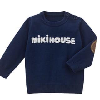mikihouse - 新品 ミキハウスロゴニットセーター 130