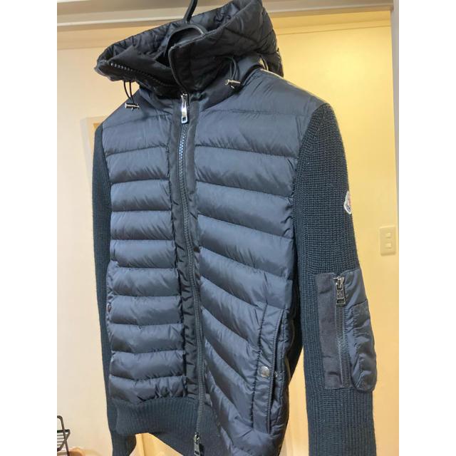 MONCLER(モンクレール)のモンクレール ニットダウン ブラック 黒 メンズのジャケット/アウター(ダウンジャケット)の商品写真