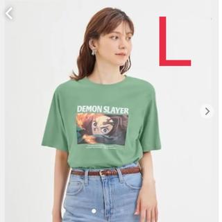 GU - 鬼滅の刃 ジーユー(GU)竈門炭治郎 Tシャツ Lサイズ