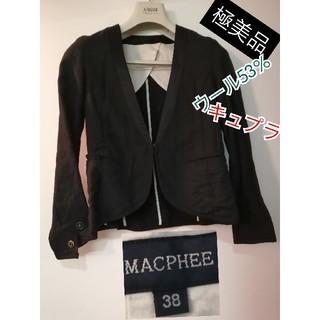 MACPHEE - 極美品macpheeテーラードジャケットブラックフォーマル高級人気素敵活躍足長