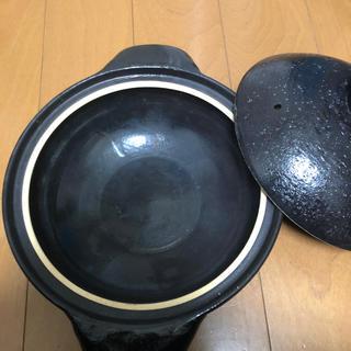 ムジルシリョウヒン(MUJI (無印良品))の伊賀焼土鍋 無印良品 3〜5人用(鍋/フライパン)