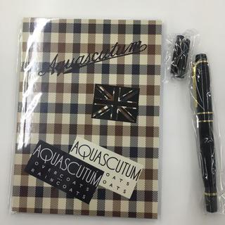 AQUA SCUTUM - アクアスキュータム 高級万年筆&本格ノート インク カートリッジ(黒)2本付き