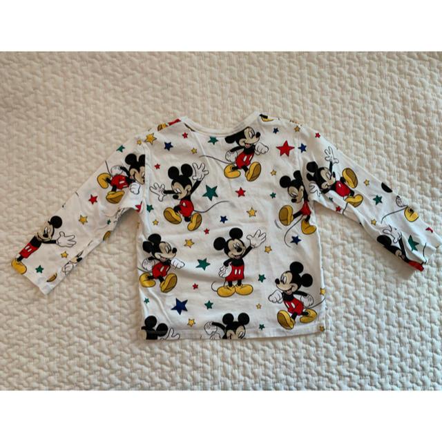 ZARA KIDS(ザラキッズ)のZARA baby ミッキー ロンT 18m-24m キッズ/ベビー/マタニティのキッズ服男の子用(90cm~)(Tシャツ/カットソー)の商品写真