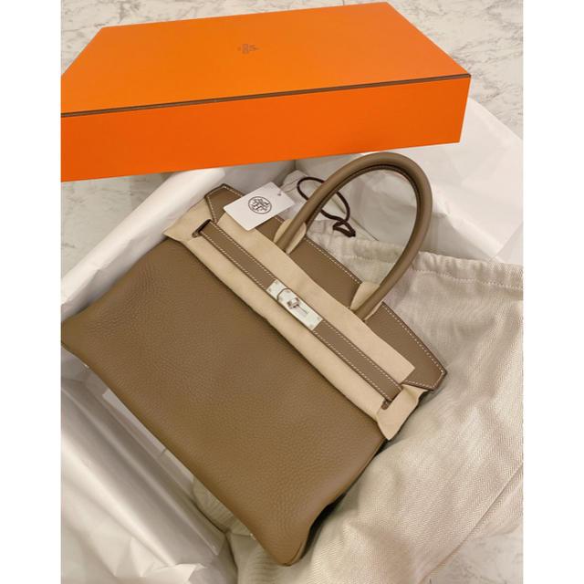 Hermes(エルメス)の【専用M】2020年最新HERMESバーキン30 エトュープ新品未使用 レディースのバッグ(ハンドバッグ)の商品写真