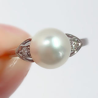 MIKIMOTO - ミキモト リング MIKIMOTO 指輪 あこや真珠 ダイヤモンド K14WG