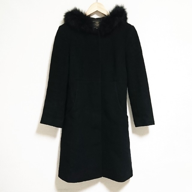 TOCCA(トッカ)のラグジュアリー☆ 上質 トッカ コート ロング ブラック ファー レディース レディースのジャケット/アウター(ロングコート)の商品写真