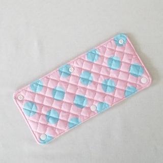 入園入学 水筒肩ひもカバー 大きな水玉 ピンク×ブルー 女の子(外出用品)