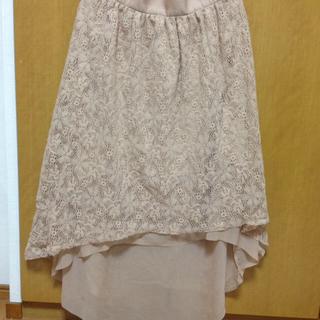 ジーユー(GU)のピンク花柄ロングスカート(ロングスカート)