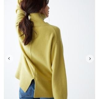 Mila Owen - 新品タグ付 バックスリットウールカシミヤニット 黄色 Mila Owen