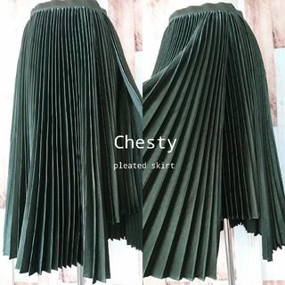 Chesty - 美品❇️Chesty*チェスティ❇️裾カッティングプリーツスカート