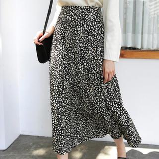 dholic - ロングレオパードスカート