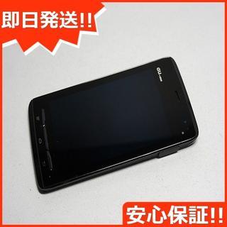 フジツウ(富士通)の美品 au IS12F グロスブラック 白ロム(スマートフォン本体)