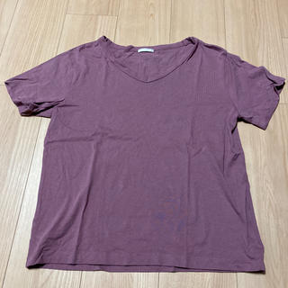 GU - GU Tシャツ ラベンダー
