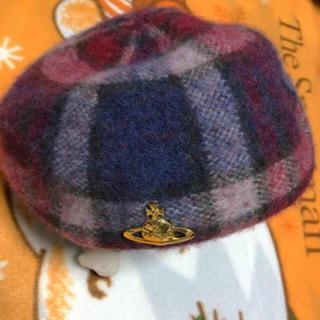 Vivienne Westwood - ほぼ新品 ヴィヴィアン ウエストウッド ベレー帽 赤 チェック 美品