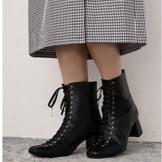 ワンアフターアナザーナイスクラップ(one after another NICE CLAUP)のNICE CLAUP♡レースアップブーティー黒Sブーツ(ブーツ)