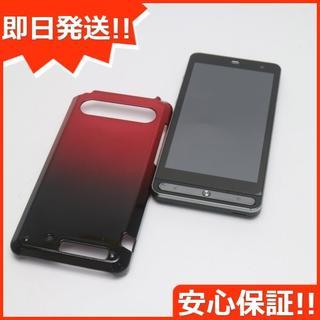 フジツウ(富士通)の美品 au ISW11F ネオブラック 白ロム(スマートフォン本体)