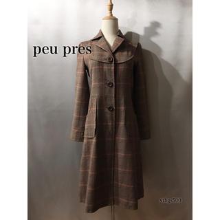 peu pres - peu pres(プープレ)◆チェック コート◆レディース F